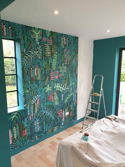 wallpapering childrens bedroom decorating