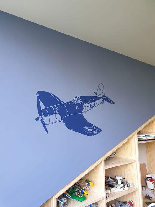 boys bedroom wall mural