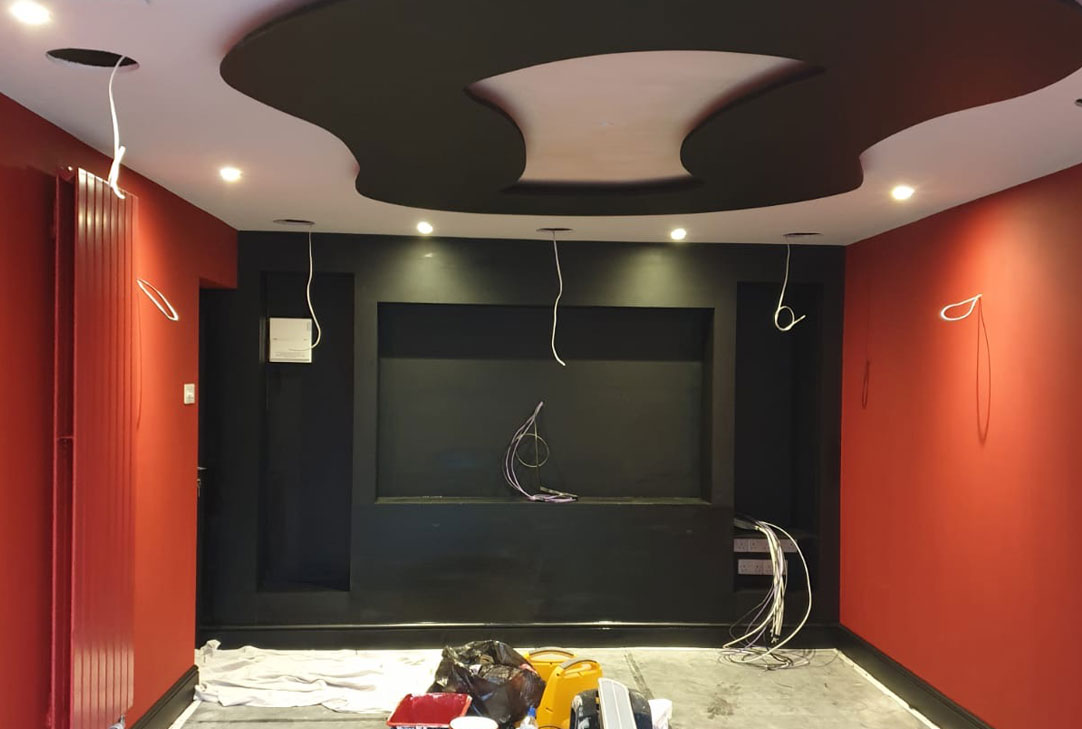 painting and decorating a cinema room