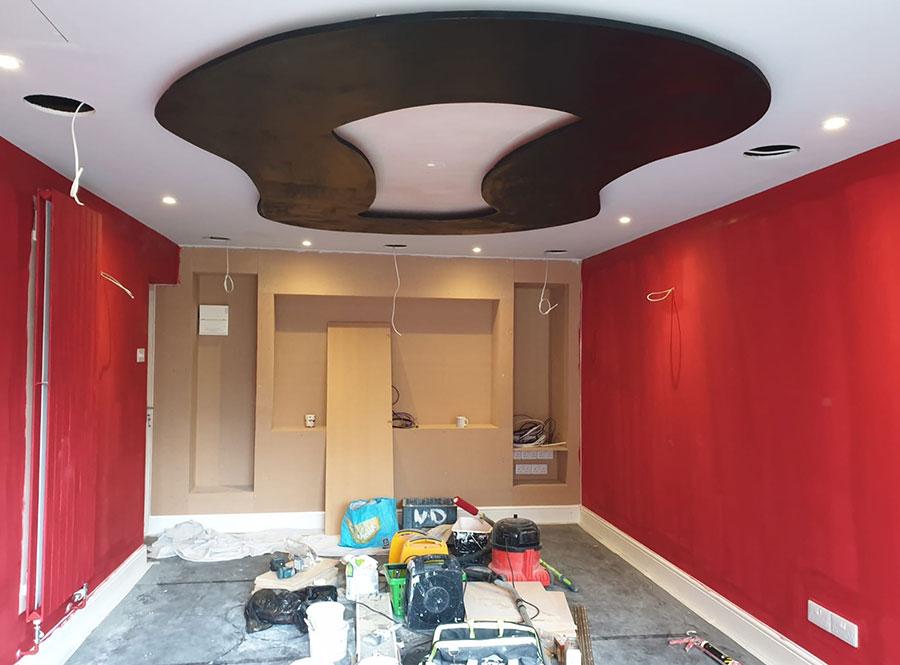painting a home cinema room